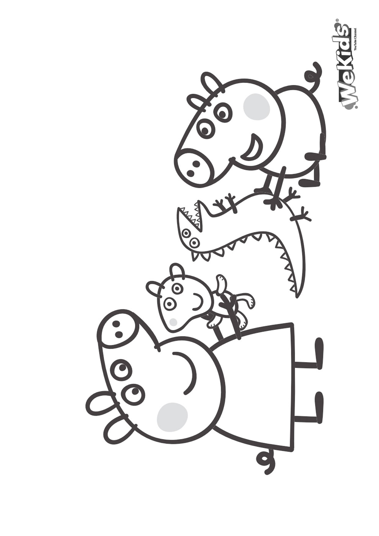 Dibujar Y Colorear A Peppa Pig Y George Pig Wekids